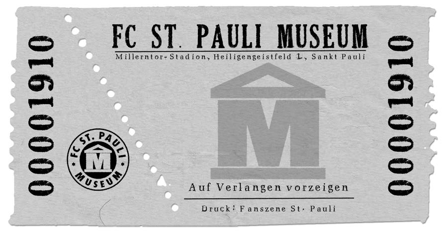 Eintrittskarte FC St. Pauli Museum
